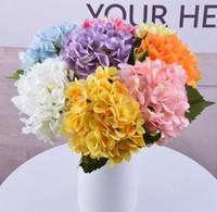 Fiore di seta artificiale Ortensia fiore di cerimonia nuziale Ortensia fiore di simulazione Arch Strada Fiori della decorazione della casa Simulazione ornamentali CFYZ14Q