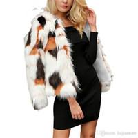 Зима Luxury женщин шубы женщин конструктора цифровой Printed Верхняя одежда Женская мода с длинным рукавом Свободные пальто