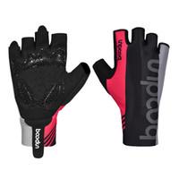 Ciclismo de carretera profesional Jinete de goma de silicona antideslizante amortiguación medio dedo guantes transpirable elasticidad del muslo flexible guantes deportivos
