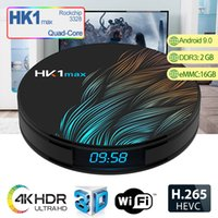 Android 9.0 TV Box 2 Go de RAM 16 Go HK1 MAX TV Box Soutien smart tv et support lecteur iptv