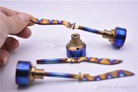 красочные G2 титана Carb Cap Инструмент Domeless Titanium TitaniumTi ногтя Titanium Dab инструмент с Carb Cap Dabber 2 класса
