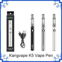 2019 Nuevo Kangvape K5 Vape Pen Starter Kit 350mah K5 Batería con voltaje ajustable 15S Precalentamiento vs visión spinner 2