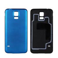 samsung S5 G900F G9006V G9008V Pil Kapağı Yedek İçin Samsung Galaxy S5 i9600 G900 Arka Konut Kapak Kılıf için 10 Ad