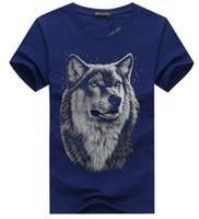 2019 Nuovi t-shirt di moda di alta qualità Testa di tigre T-Shirt manica corta Stampa 3D T-shirt Camicie casual uomo polo 23 colori KZ 0-22