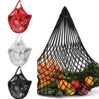 Kullanımlık Bakkal Çantaları Pamuk Örgü Dize Alışveriş Bez Çanta Mutfak Meyve Sebze Çanta Bakkal Alışveriş Açık