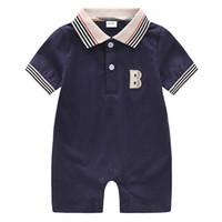 أزياء 2019 الصيف طفل رضيع رومبير قصيرة الأكمام القطن الرضع بذلة الكرتون مطبوعة طفلة السروال القصير ملابس الطفل الوليد