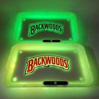 Rolling Tepsi Glow Backwoods ve 7 Renkler Sigara Tepsi 1100 mAh Şarj Edilebilir Pil LED Işık Glowtray Hızlı Şarj Hediye Paketi ile Hızlı Şarj