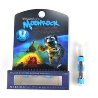 Moonrock Clear Vape Carts Cartridges 1.0ml 1 gramo Ceramic Coil Vape Tank press on tip 510 Hilo para aceite grueso 7 sabores at211
