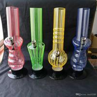 Aide de cheminée en acrylique, accessoires de vente en gros de bangs de verre, pipe à eau en verre fumeur, livraison gratuite