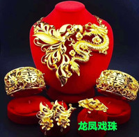 Yulaili Classic Hot Sale Chinese Design Gorgeous Necklace Bracelet Earrings Ring Four-Piece Bridal Wedding Jewelry Set Free Shipping