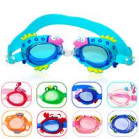 Crianças Crianças Meninos Meninas Antifog À Prova D 'Água de Alta Definição Óculos de Natação Óculos de Mergulho Com Tampões de Ouvido Óculos de Natação de Silicone ST345