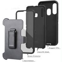 Capas telefônicas para iPhone 12 Pro Max Samsung A10E A20 A70 A11 A01 A21 TPU PC Rugged Híbrido Choque Absorbando Cinto de Proteção Clipe