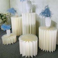 الزفاف إكليل الدليل نافذة بوث الدعائم العمود حامل ورقة الحلوى الجدول للطي الديكور