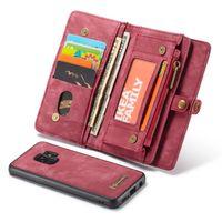 Housse téléphone multifonctions avec porte-cartes pour Samsung S7 Edge S8 S9 S10 Plus S10E Note 8 9 A20 A30 A40 A50 A70 A80 Cache-aimant en cuir