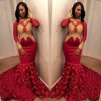 Stunning Red Prom Dresses 2019 Party Wear With Long Sleeves ...