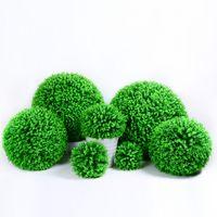 40cm 큰 인공 식물 플라스틱 밀라노 잔디 공 회양목 공 유칼립투스 공 웨딩 장식 파티 홈 장식 분재 가짜 식물