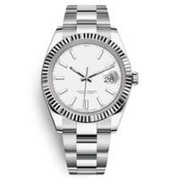 U1 Fabrik 41mm NEUER ST9 Edelstahl Silber Zifferblatt 126334 Lünette Datum nur Automatische Bewegung 41mm Männer Uhren Uhren Mens Armbanduhren