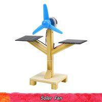 Holz SolarFan Wissenschaftliches Experiment Spielzeug Handmade zusammenbauen Technik Schaltungs Kits Gehirn Fähigkeit pädagogische Geschenke für Kinder verbessern