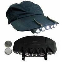 سوبر برايت 5 LED ضوء كاب العلوي كشافات رئيس المصباح غطاء الرأس قبعة ضوء كليب على الصيد ضوء مصباح رئيس VT0219