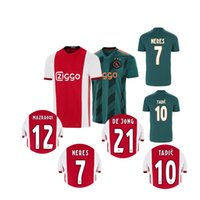 b9c026602 Ajax Soccer Jersey 2019 2020 DE LIGT DE JONG TADIC ZIYECH VA.