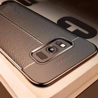 Cubierta de la caja del teléfono del cuero suave TPU antideslizante de silicona para Samsung Galaxy S10 S9 S8 S7 Nota 8 9 A6 A8 A9 J4 J6