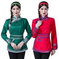 Traditional mongolian Clothing for women Tang Suit national ...