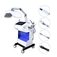 8 في 1 شعبية هيدرو الوجه آلة الأكسجين المياه هيدرا الوجه الأكسجين بخاخ بندقية هيدرو جلدي أدى ضوء العلاج آلة
