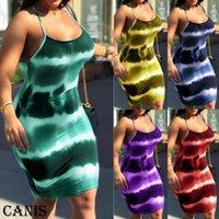 홀터넥 스타일 여성 스트라이프 드레스 섹시한 여성 붕대 높은 와싯 미니 드레스 Feamle 민소매 이브닝 파티 클럽 드레스