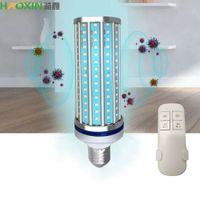 Haoxin 110V / 220V 60W UVC germicida de luz ultravioleta UV esterilización E27 bulbo del maíz de control remoto 195 granos de la lámpara de la lámpara Inteligentes