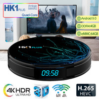 HK1 Plus Android 9.0 TV Box Avec S905X Quad Core CPU 4GB 64GB Streaming Media Player Support 2.4G Wifi