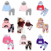 Baby Girls Clothe Boy Camo Striped Hoodie Pants Suits Floral...