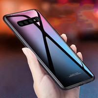 삼성 갤럭시 S10 S10 + S10e S9 S8 + Note9 케이스 8 케이스 고급 광택 강화 유리 소프트 실리콘 프레임 Shockproof 하드 커버