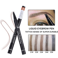 Handaiyan Crayon sourcil Eyebrow Pencil 4 Forcella Micro intaglio sopracciglia tinta impermeabile sopracciglio Enhancer Tattoo Pen