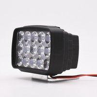 Motosiklet LED far üç tekerlekli dış ışık beyaz 15 boncuk 15W spot 12v80v evrensel spot
