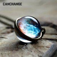 CANCHANGE 2018 New Cosmic Planet Collana unisex Dreamy Transparent Round Romantic For Men Women Gift