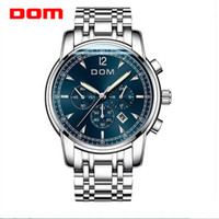 2019 New Watches Men DOM Chronograph Men Sports Watches Wate...