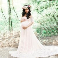 Родильная фотография реквизит макси платье для беременных кружева платье платье модно стрельба фото летние беременные платья плюс размер