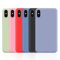 (360) 전체 커버 모방 액체 실리콘 TPU 케이스 아이폰 (11) 프로 X XS 최대 XR 8 7 6 삼성 S7 에지 S8 S9 S10 세대 플러스 S10E 주 9 10 10 +