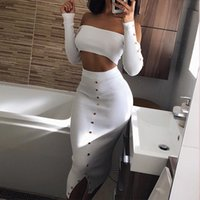 VNAURRY Women' s Sexy One- shoulder Liu Ding Pit 2 Piece ...