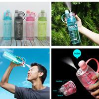 Bottiglia di acqua spray professionale Tazza portatile per l'atomizzazione Bottiglia di sport professionale per la corsa all'aria aperta Escursionismo Palestra Bottiglie per bevande 400ML 600ML