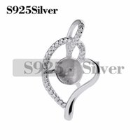 Semi- finished Mountings Cubic Zirconia Pearl Findings 925 St...