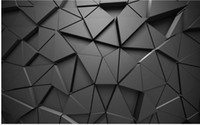 fondos de pantalla de color gris estéreo 3D geométrico abstracto gris fondos de pantalla de papel tapiz de fondo geométrico moderno de sala de estar