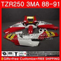 Corps Pour usine YAMAHA blanc TZR250 3MA TZR 250 RS RR YPVS TZR250RR 118HM.75 TZR-250 88 89 90 91 TZR250 1988 1989 1990 1991 Kit de carénages
