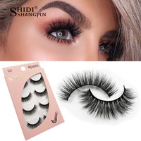 SHIDISHANGPIN 4 pairs Mink Eyelashes False Lashes Extension ...