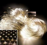 Luces de jardín de navidad en casa 6 * 4M 678 LEDs Net Net Fairy Light cortina Luces de red lámparas netas a prueba de agua