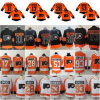 79 Carter Hart Philadelphia Flyers 2019 Série de stades Jersey 28 Claude Giroux 17 Wayne Simmonds 11 Travis Konecny 9 Ivan Provorov
