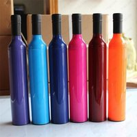 Flaschenregenschirm Multifunktions-Doppelszweck Silberkolloid-Regenschirme Mode Kunststoff Weinflaschen Sonnenschirm Tragen Sie bequem