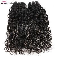 Haarfäden Brasilianische Wasserwelle Human Hair Bündel mit Verschluss Peruaner Nass Wellenförmige malaysische Körperwelle Tiefe lose Haarverlängerungen FZP201