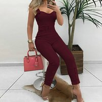 Thin Strap Button Design Jumpsuit Casual Look for Women 2019...