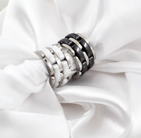 Classico anello in ceramica singolo anello in ceramica in bianco e nero anello di ceramica e anello da donna